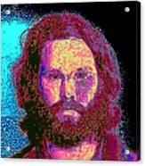 Jim Morrison 20130329 Square Acrylic Print by Wingsdomain Art and Photography
