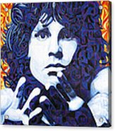 Jim Morrison Chuck Close Style Acrylic Print by Joshua Morton