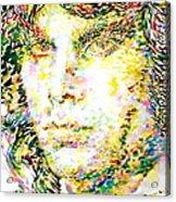 Jim Morrison Watercolor Portrait.2 Acrylic Print