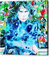 Jim Morrison Watercolor Portrait.3 Acrylic Print