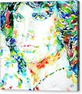 Jim Morrison Watercolor Portrait.5 Acrylic Print