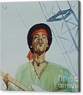 Jimi Hendrix at Woodstock Acrylic Print