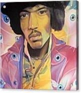 Jimi Hendrix Eyes Acrylic Print