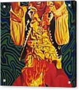 Jimi Hendrix Fire Acrylic Print