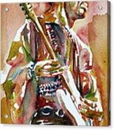 Jimi Hendrix Playing The Guitar Portrait.3 Acrylic Print