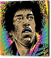 Jimi Hendrix Pop Art Acrylic Print