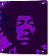 Jimi in Purple Acrylic Print