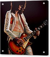Jimmy Page In Led Zeppelin Painting Acrylic Print