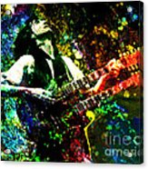Jimmy Page - Led Zeppelin - Original Painting Print Acrylic Print