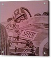 Jo Siffert And His Brabham Bt11 Acrylic Print
