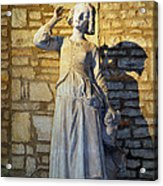 Joan Of Arc Hearing Voices By Francois Rude Acrylic Print