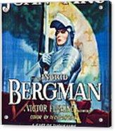 Joan Of Arc, Poster Art, Ingrid Acrylic Print