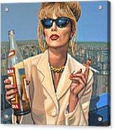 Joanna Lumley As Patsy Stone Acrylic Print