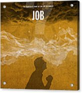 Job Books Of The Bible Series Old Testament Minimal Poster Art Number 18 Acrylic Print