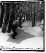 Job's Winter Stream Acrylic Print