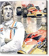 Jochen Rindt Golden Leaf Team Lotus Lotus 49b Lotus 49c Acrylic Print