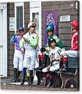 Jockeys Acrylic Print