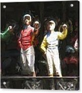 Jockeys In A Row Acrylic Print
