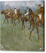 Jockeys In The Rain, 1886 Acrylic Print
