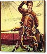Joe Dimaggio Yankee Clipper Acrylic Print by Ray Tapajna