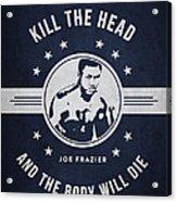 Joe Frazier - Navy Blue Acrylic Print
