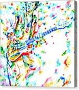 Joe Strummer Playing Live Acrylic Print