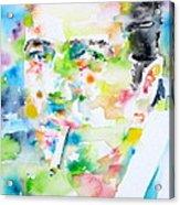 Joe Strummer - Watercolor Portrait Acrylic Print