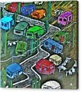 Joes Happy Trailer Park Acrylic Print by Joseph Hawkins