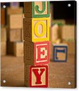 Joey - Alphabet Blocks Acrylic Print