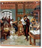 Johann Gutenberg's Printing Press Acrylic Print