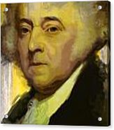 John Adams Acrylic Print by Corporate Art Task Force