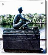 John B Kelly Statue Philadelphia Acrylic Print by Bill Cannon