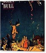 John Bull 1954 1950s  Uk Guy Fawkes Acrylic Print