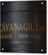 John Cavanagh Hatbox New York Acrylic Print