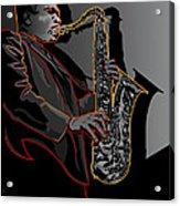 John Coltrane Jazz Saxophone Legend Acrylic Print