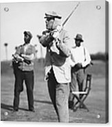 John D. Rockefeller Golfing Acrylic Print
