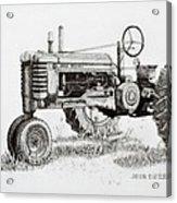 John Deere Awaiting Restoration Acrylic Print