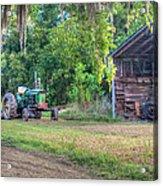 John Deere - Old Tractor Shed Acrylic Print by Scott Hansen