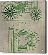 John Deere Patent Acrylic Print