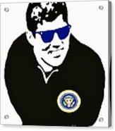 John F Kennedy Signature Wayfarer Acrylic Print by Jost Houk