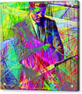 John Fitzgerald Kennedy Jfk In Abstract 20130610 Acrylic Print