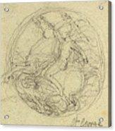 John Flaxman, British 1755-1826, Design For A Medal Acrylic Print