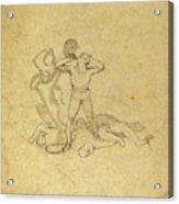 John Flaxman, British 1755-1826, Figure Standing Acrylic Print