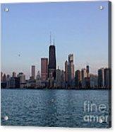 John Hancock Building And Chicago Il Skyline Acrylic Print