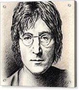 John Lennon Portrait Acrylic Print by Wu Wei
