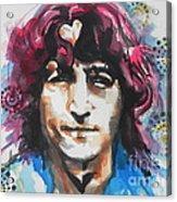 John Lennon..up Close Acrylic Print