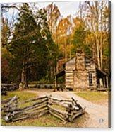 John Oliver Pioneer Cabin Acrylic Print