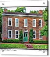John Snow House Worthington Acrylic Print