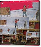 John Wayne Collage Cowboy Museum Tombstone Arizona 2004 Acrylic Print