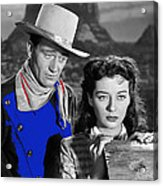 John Wayne Gail Russell Angel And The Badman  Publicity Photo 1947-2012 Acrylic Print